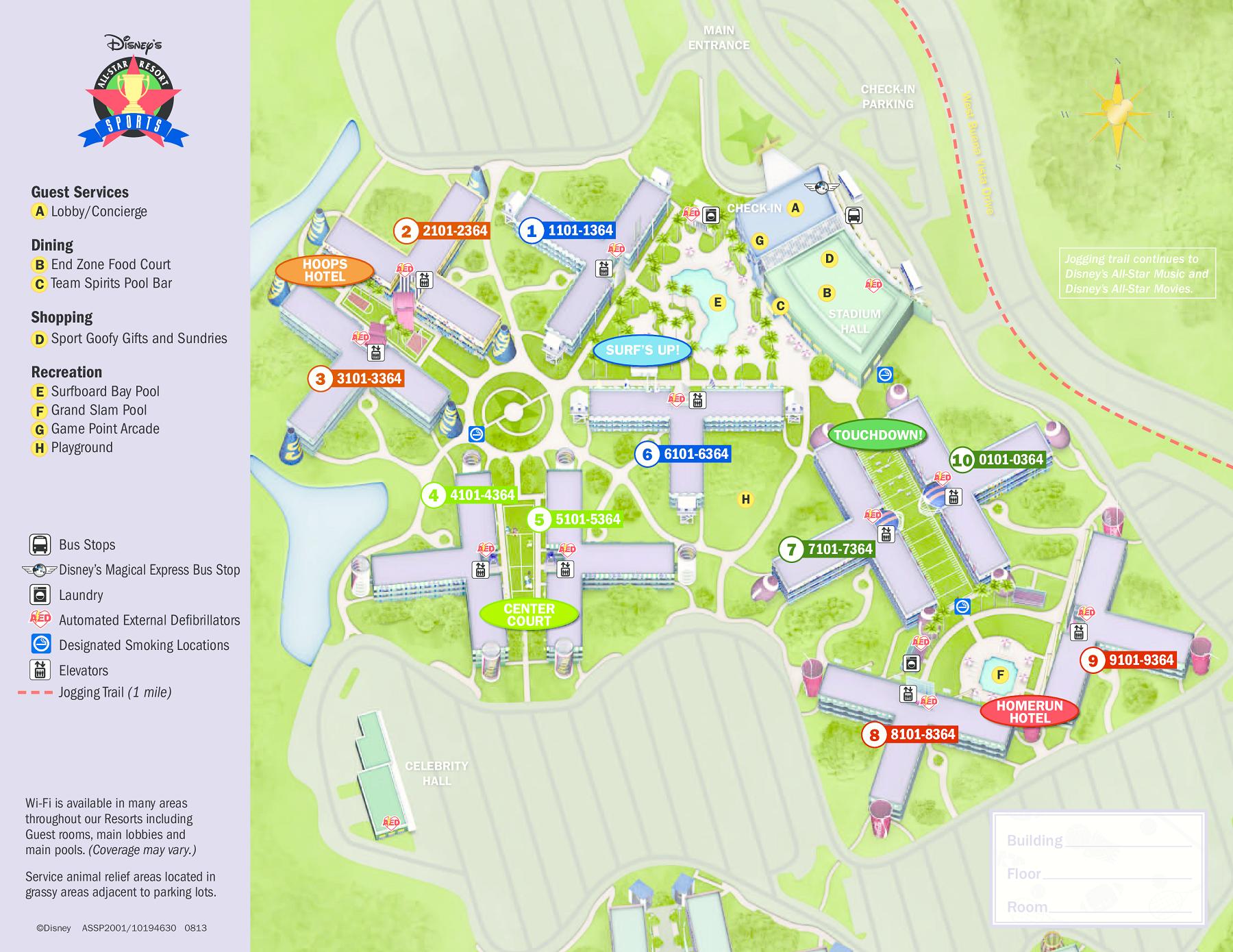 All Star Music Resort Map Walt Disney World Maps | WDW Planning
