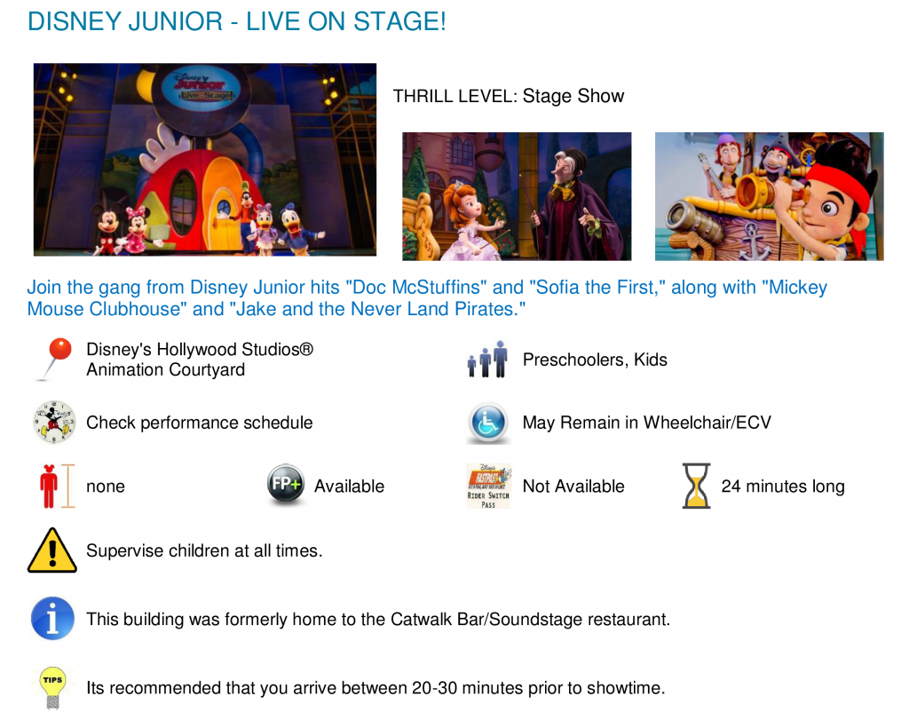 shows: disney junior | wdw planning