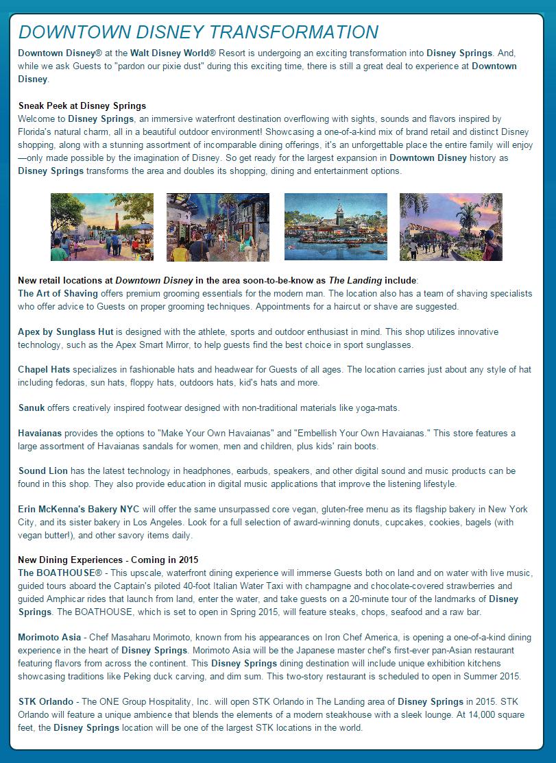 Disney Springs Wdw Planning