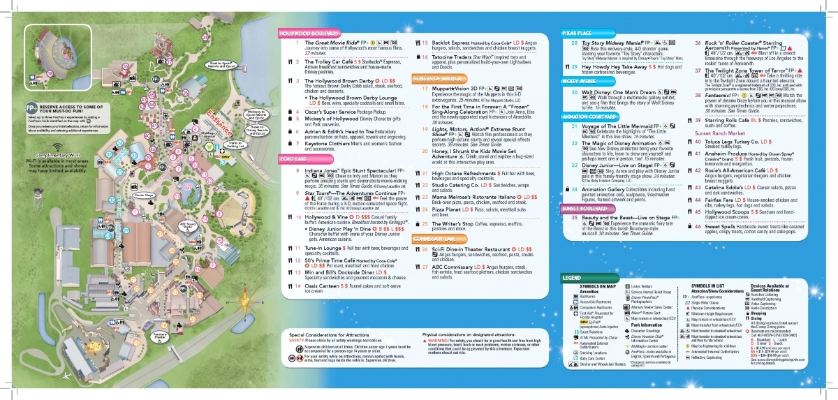 Walt disney world maps wdw planning disneys hollywood studios map gumiabroncs Choice Image
