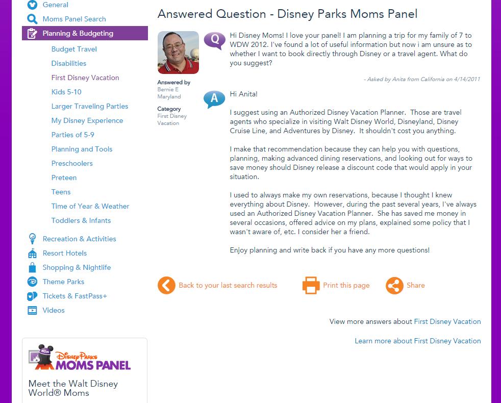 Disney moms panel a